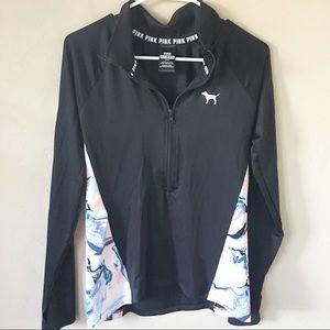 PINK Ultimate Pull Over half zip jacket size Sm